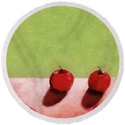 Seven Apples Round Beach Towel by Michelle Calkins