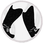 Seven League Boots Round Beach Towel