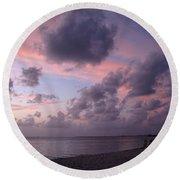 Seven Mile Beach Sunset Round Beach Towel