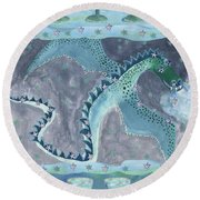 Seven Of Cups Round Beach Towel