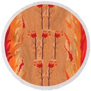 Seven Of Wands Round Beach Towel