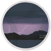 Seven Springs Lightning Strikes Round Beach Towel by James BO  Insogna