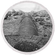 Sewer To Streams  Round Beach Towel