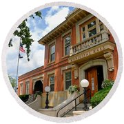 Sewickley Municipal Hall Round Beach Towel