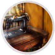 Sewing Machine  - The Sewing Machine  Round Beach Towel