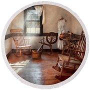 Sewing - Room - Grandma's Sewing Room Round Beach Towel
