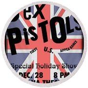 Sex Pistols First Us Appearance Round Beach Towel
