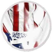 Sexy Stars And Stripes Round Beach Towel