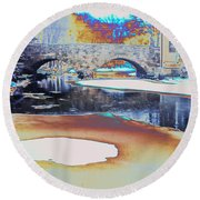 Sgt Peppers Lonely Hearts Club Bridge Round Beach Towel