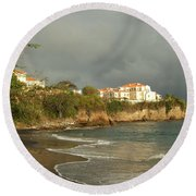 Sgu Library Storm Clouds Round Beach Towel