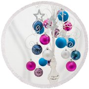 Shabby Chic Christmas Round Beach Towel