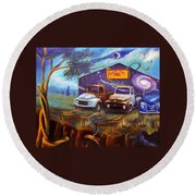 Shade Tree Hot Rods Round Beach Towel