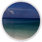 Shades Of Blue  Round Beach Towel