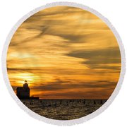 Shades Of Dawn Round Beach Towel