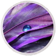 Shades Of Purple Round Beach Towel