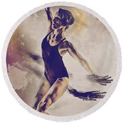 Shadow Dance Round Beach Towel