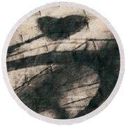 Shadow Heart Chalk 1 Hp Round Beach Towel