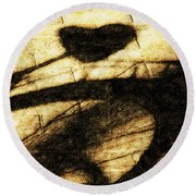 Shadow Heart Tinted Copper Round Beach Towel