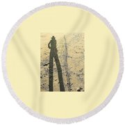 Shadow No.22 Round Beach Towel