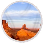 Shadow Of The Past Round Beach Towel