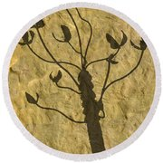 Shadow Of The Triffids Round Beach Towel