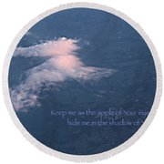 Shadow Of Your Wings Round Beach Towel by Kume Bryant