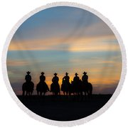 Shadow Riders Round Beach Towel