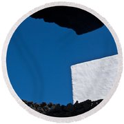 Shadow Shapes Iv Round Beach Towel