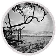 Shadow Tree Cas En Bas Round Beach Towel