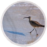 Shadow Walker Round Beach Towel