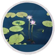 Shadows And Reflections Round Beach Towel