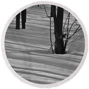Shadows In Boyertown Park Round Beach Towel