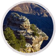 Shadows In The Canyon Round Beach Towel