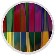 Shadows In The Material World Round Beach Towel