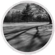 Shadows In The Park Square Round Beach Towel