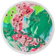 Shadows Of My Youth Round Beach Towel
