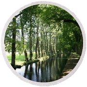 Shady Creek Round Beach Towel