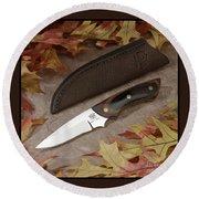 Shady Oak Knife-faa Round Beach Towel