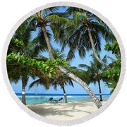 Shady Palms Round Beach Towel