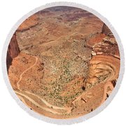 Shafer Trail Round Beach Towel by Adam Romanowicz