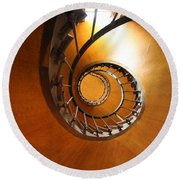 Shaft Staircase Round Beach Towel