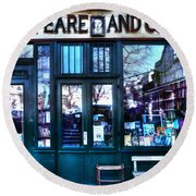 Shakespeare And Company Paris France Round Beach Towel