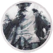 Shakespeare In Central Park Round Beach Towel