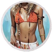 Shakira Artwork Round Beach Towel
