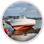 Shaldon-teignmouth Harbour Round Beach Towel
