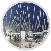 Shanghai Pudong Airport In China Round Beach Towel