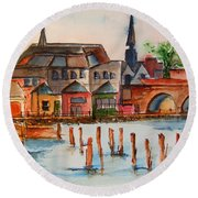 Shannon River Round Beach Towel