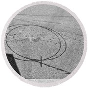 Shape And Shadow No.50 Gray Version Round Beach Towel