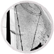 Shape And Shadow No.50 High Contrast Version Round Beach Towel