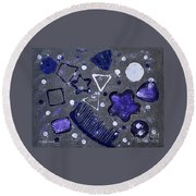 Shape From The Series The Elements And Principles Of Art Round Beach Towel
